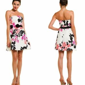 Lilly Pulitzer Amberly Strapless Mini Dress in White Stroke of Midnight Size 4